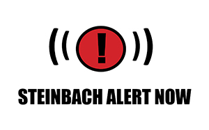 Steinbach Alert Now Logo with text